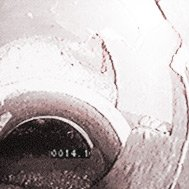 cracked and fractured sewer pipe