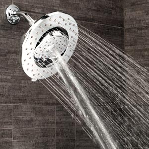 installed bathroom shower head