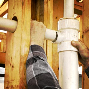 plumbing being installed in Toronto home