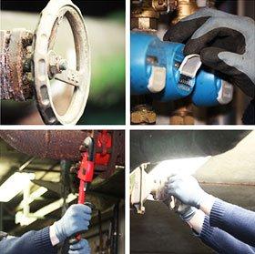 plumbers work on commercial plumbing repairs