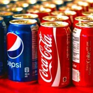 pepsi and coke on display