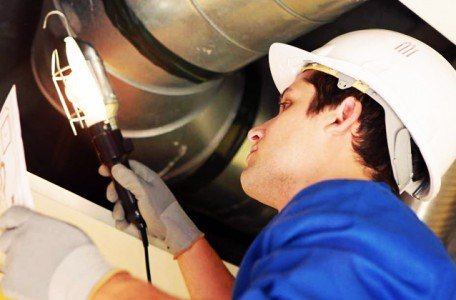 plumber conducting inspection