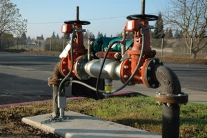 backflow prevention device installed at commercial facility in toronto