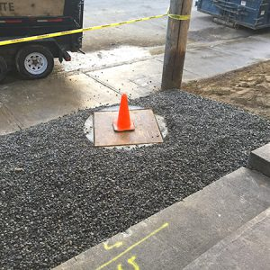 completed manhole after installation