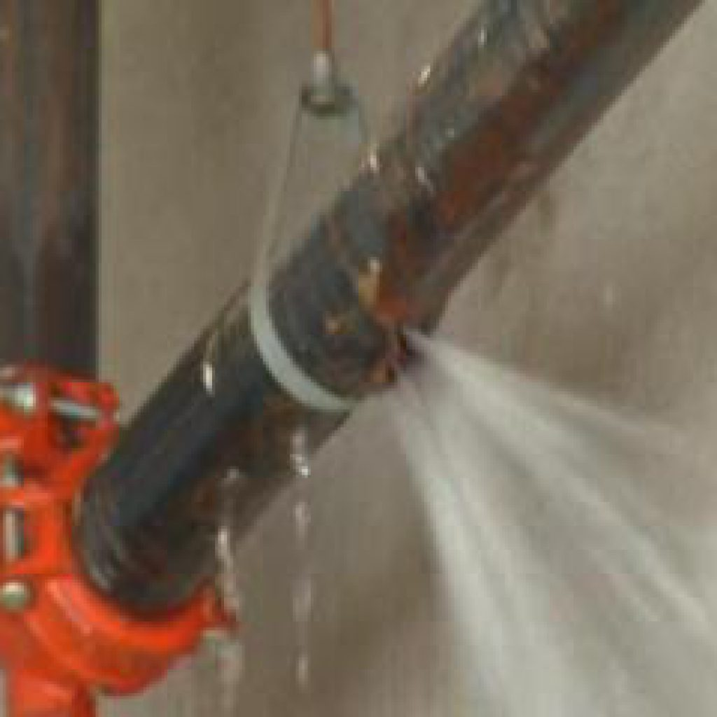 a burst pipe in the basement of a mississauga property