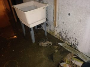 flooded basement in a mississauga home after heavy storm