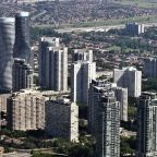 overview of mississauga city from the air