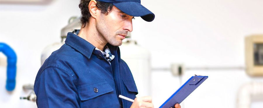 plumber conducting a mississauga plumbing inspection