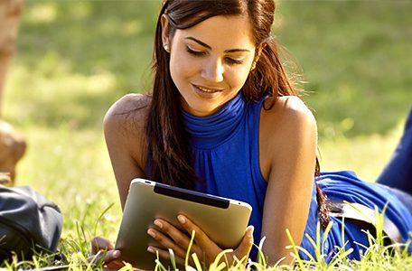 woman reading top toronto plumbing blog
