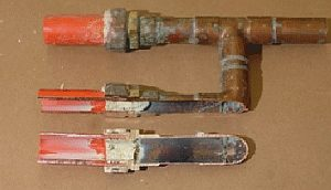 example of corroded kitec pipe