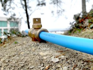 water service being upgraded at a richmond hill property