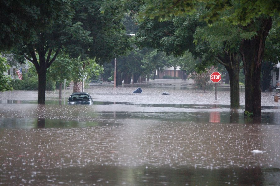 mississauga street completely flooded after major rainfall