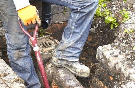 drain excavation at toronto home