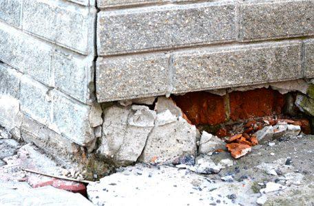 severely damaged foundation of toronto home